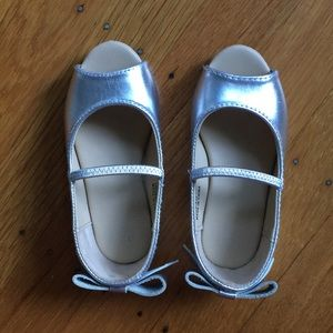Janie and jack silver sandals, 7